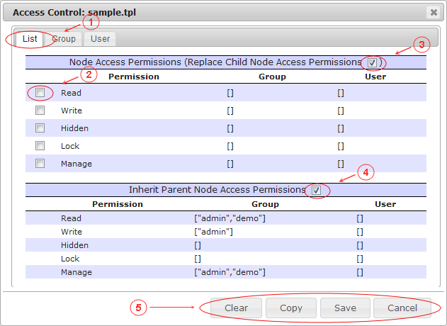 Manager Access Control List   CMS Tools Files   Documentation (image)