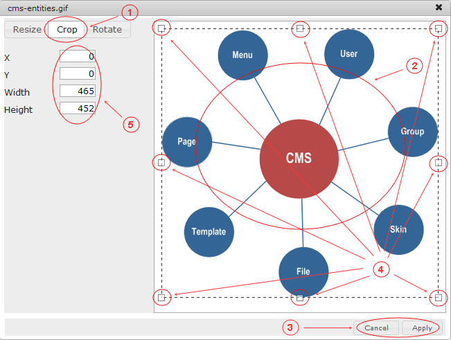 Manager Image Crop   CMS Tools Files   Documentation: Crop image (image)