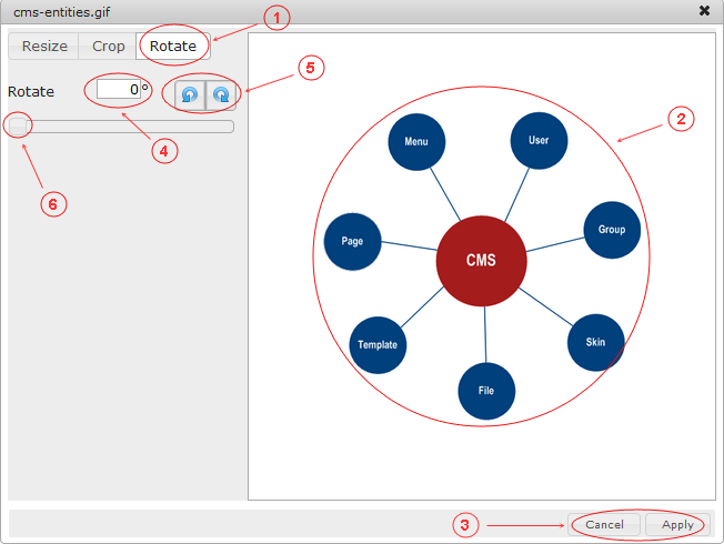 Manager Image Rotate | CMS Tools Files | Documentation: Rotate image (image)