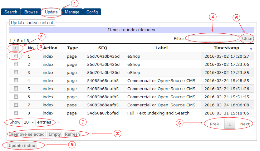 Update | CMS Tools Indexing| Documentation (image)