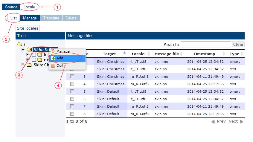 Locale Add   CMS Tools Localisation  Documentation (image)