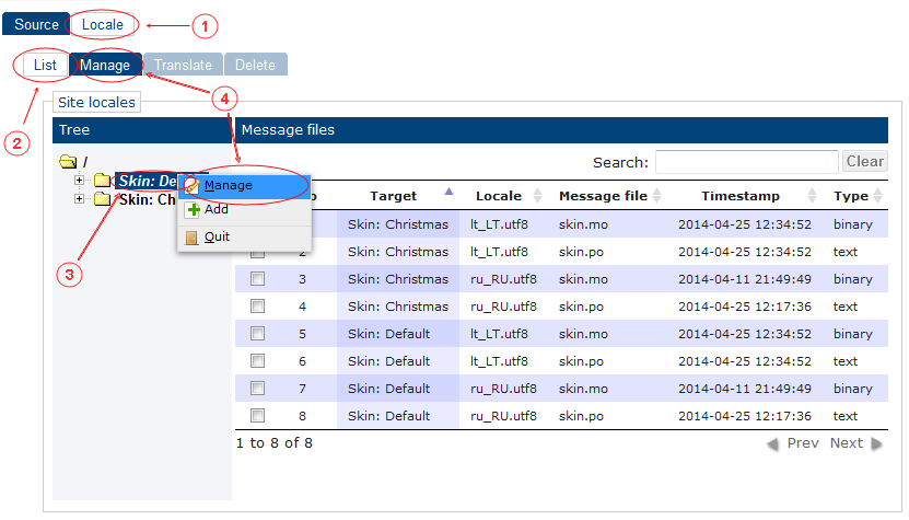 Locale Manage   CMS Tools Localisation  Documentation (image)