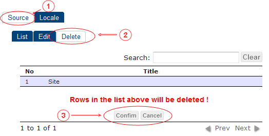 Source Delete | CMS Tools Localisation| Documentation (image)