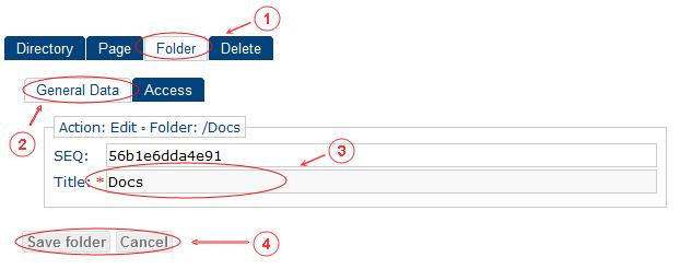 Folder Edit General Data | CMS Tools Pages | Documentation (image)