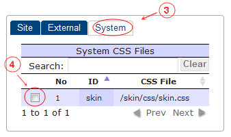 New Edit Page CSS | CMS Tools Pages | Documentation: select from system defined list (image)