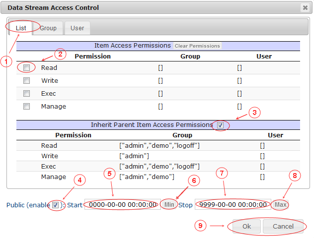 New Edit Page Data Streams   CMS Tools Pages   Documentation: datastream ACL (image)