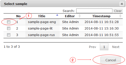 New Edit Page General Data | CMS Tools Pages | Documentation: select sample (image)