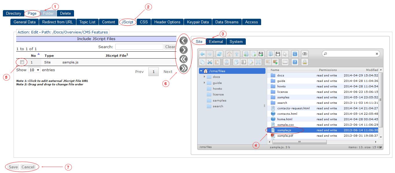 New Edit Page JScript | CMS Tools Pages | Documentation (image)