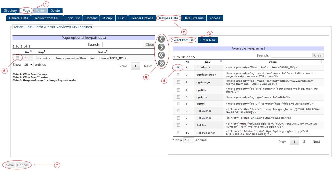 New Edit Page Keypair Data | CMS Tools Pages | Documentation (image)