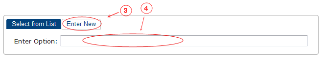 New Edit Page Header Options | CMS Tools Pages | Documentation: enter new option (image)