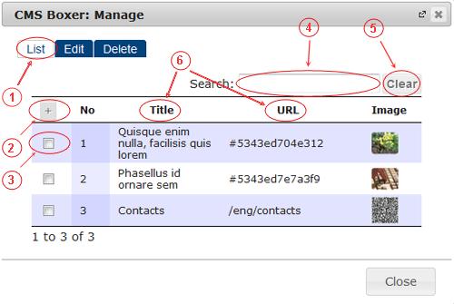Boxer List   CMS Plugins   Documentation (image)
