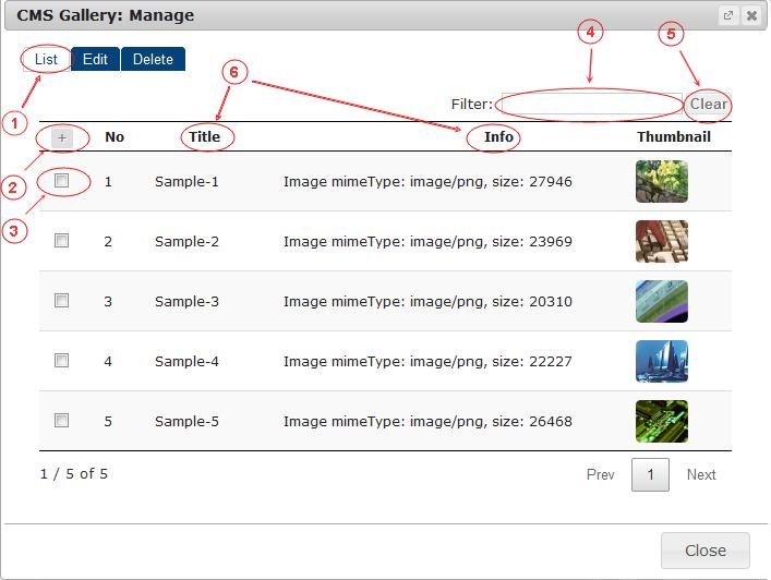 Gallery List   CMS Plugins   Documentation (image)