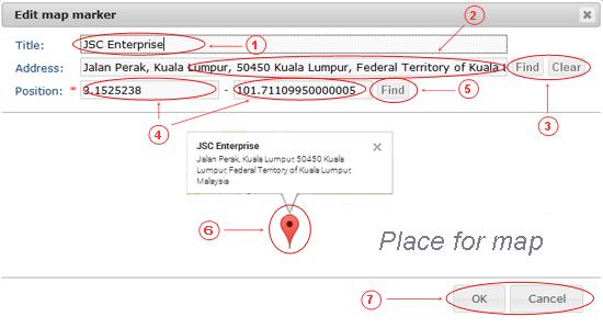 Maps Edit | CMS Plugins | Documentation - Edit Marker (image)