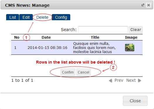 News Delete   CMS Plugins   Documentation (image)