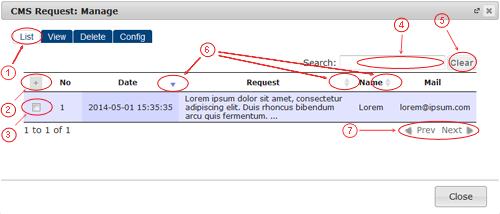 Request List | CMS Plugins | Documentation (image)