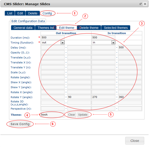 Slider Configuration Edit | CMS Plugins | Documentation (image)