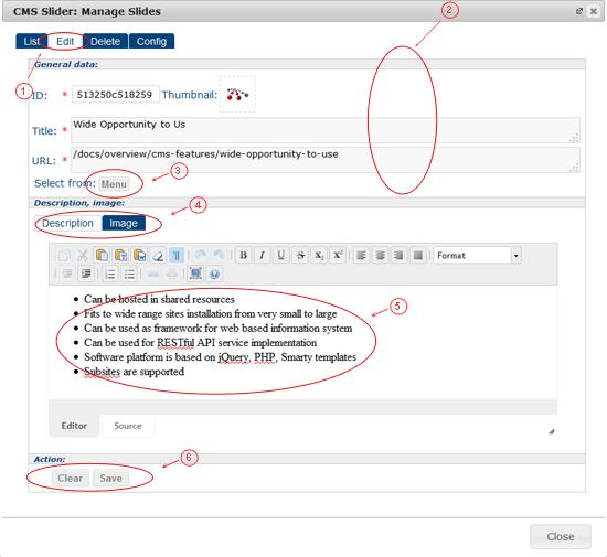 Slider Edit   CMS Plugins   Documentation (image)