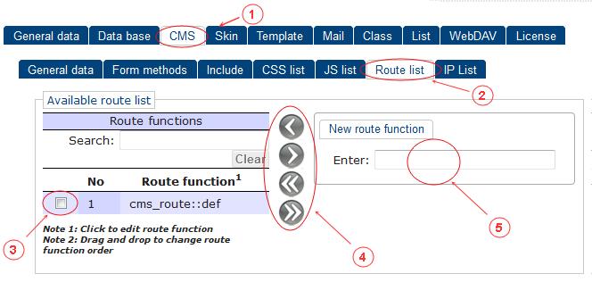 CMS Route List | CMS Tools Setup | Documentation (image)