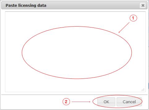 License | CMS Tools Setup | Documentation upload dialog (image)
